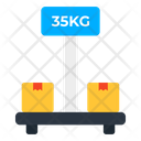 Cargo Weighing Parcels Weighing Package Weighing Icon