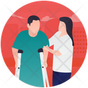 Caring Disable Handicap Psychological Baggage Icon