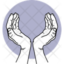 Caring Hand Taking Care Fingers Icon