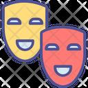 Carnival Comedy Symbol Movie Masks Icon