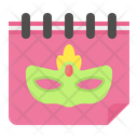 Carnival Day Calendar Icon