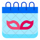 Carnival Festival Carnival Day Calendar Icon