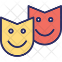 Carnival Comedy Face Masks Icon