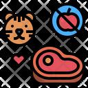 Carnivore Meat Tiger Icon