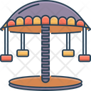 Carousel Amusement Park Fair Icon