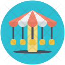 Carousel Funny Amusement Icon