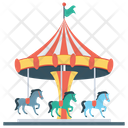 Carousel Merry Go Round Amusement Ride Icon