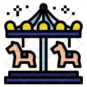 Carousel Circus Amusement Icon