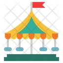 Carousel Amusement Park Kid And Baby Icon
