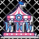 Carousel Amusement Park Icon