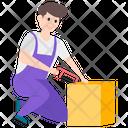 Carpenter Woodworker Labour Icon
