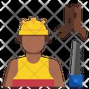 Carpenter Worker Man Icon