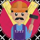 Carpenter Proffesion Male Icon