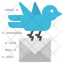 Pigeon Carrier Mail Icon