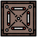 Carrom Gaming Fun Icon