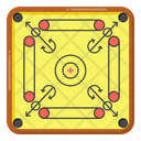 Board Game Carrom Strike Game Icon