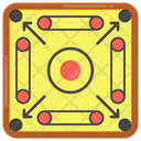 Board Game Carrom Board Indoor Game Icon