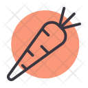 Carrot Healthy Food Icon