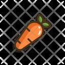 Carrot Vegatbale Vegatbales Icon