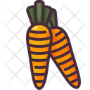 Carrot Vegetable Healthy Food Icon