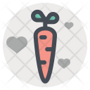 Carrot Sex Vegetable Icon