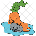 Carrot With Cat Icon