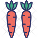 Carrots Fruit Nutrition Icon