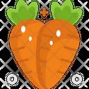 Carrots Vegetable Vegetarian Icon