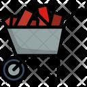 Carry Equipment Wheelbarrow Icon