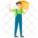 Carrying Box Delivery Man Delivery Boy Icon