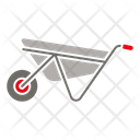 Cart Wheelbarrow Mining Cart Icon