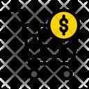 Cart Dollar Shopping Icon