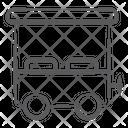 Cart Street Cart Wheeled Cart Icon