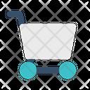 Cart Stroller Pushcart Icon
