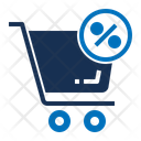 Cart Shopping Cart Percent Icon