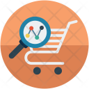 Cart search analysis Icon