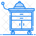 Food Service Food Trolley Cart Service Icon