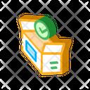 Approved Box Carton Icon