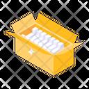 Parcel Cardboard Open Carton Icon