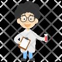 Cartoon Boy Scientist Icon