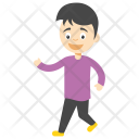 Cartoon Boy Walking Icon