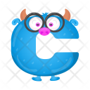 Cartoon C Monster Icon