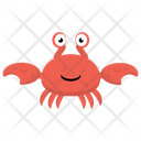 Cartoon Crab Seafood Sea Life Icon