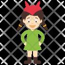 Devil Girl Female Icon