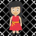 Girl Daughter Black Icon