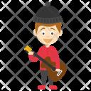 Guitarist Boy Guitar Icon