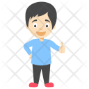 Cartoon Little Boy Icon