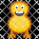 Cartoon Microbe Icon