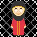 Cartoon Muslim Girl Icon