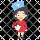 Cartoon Nurse Icon